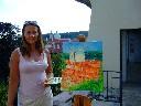 Eva Erbsová ve Fürstenberské zahradě 4. 8. 2012